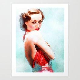 Joan Crawford, Actress Art Print