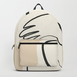 Lady Portrait Abstract Minimal  Line Art 3 Backpack