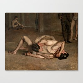 Wrestlers by Thomas Eakins Canvas Print