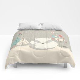 Christmas baby fox 05 Comforters