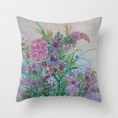 A Bouquet of Blooms for You Throw Pillow