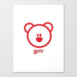 Bear : grrr Canvas Print