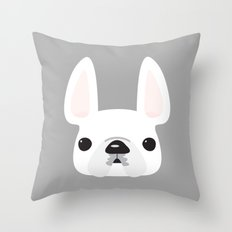 White on Gray Throw Pillow
