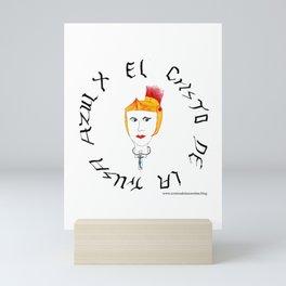 El Cristo de la trusa azul Mini Art Print