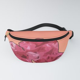 couple roses love silhouette Fanny Pack
