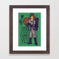 Ghostbuster Goddess Framed Art Print