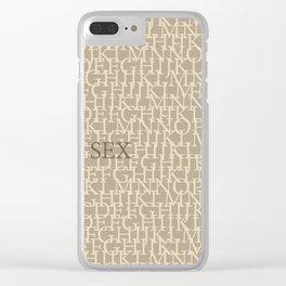 Sex Clear iPhone Case