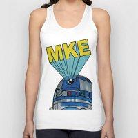 milwaukee Tank Tops featuring Milwaukee: R2D2 MKE by Amanda Iglinski