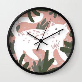 v wild kitty Wall Clock