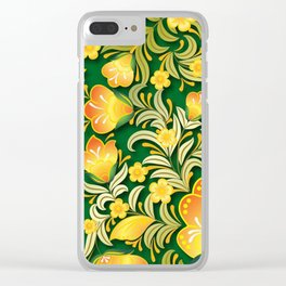 Art Flowers Clear iPhone Case