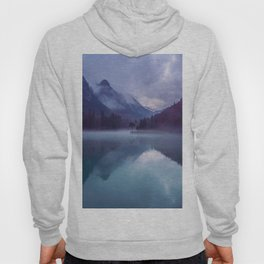 Mountain Valley Lake Purple And Blue Colors Hoody