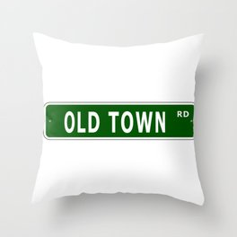 Old Town Rd Street Sign Throw Pillow