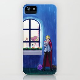 SANJI in the rain | One Piece | Print | Painting Poster | Charlotte Pudding | 817 | ANIME | MANGA #A iPhone Case