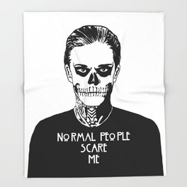 Normal People Scare Me - Tate Throw Blanket