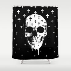 After Market, gothic skull Shower Curtain