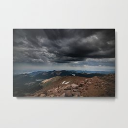 Pikes Peak Storm Metal Print