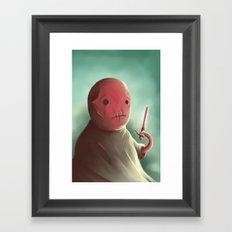 Cuter than master Yoda Framed Art Print