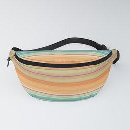 Orange and Blue Stripe Design Fanny Pack