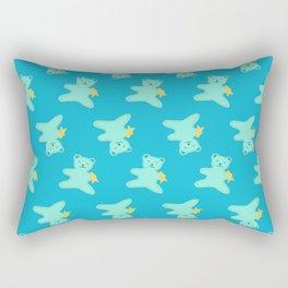 Turquoise Bear Rectangular Pillow