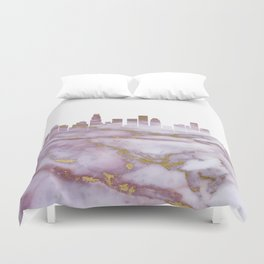 Los Angeles Skyline Duvet Cover