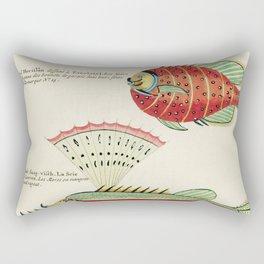 Natural History of the Rarest Curiosities of the Indian Sea 1754 Rectangular Pillow