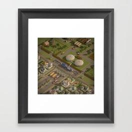 Biogas City Framed Art Print