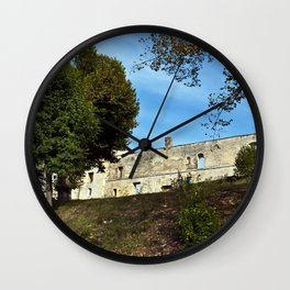 Abbey in South West of France Wall Clock