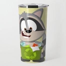 Recycle Raccoon Travel Mug