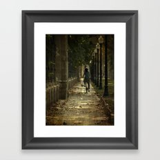 bicing Framed Art Print