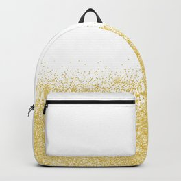 Glittery gold sparkles Backpack