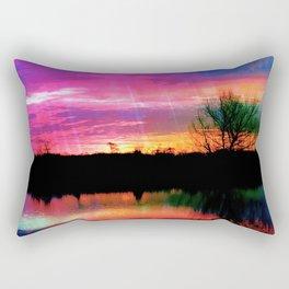 Watercolor January Texas Sunrise Rectangular Pillow