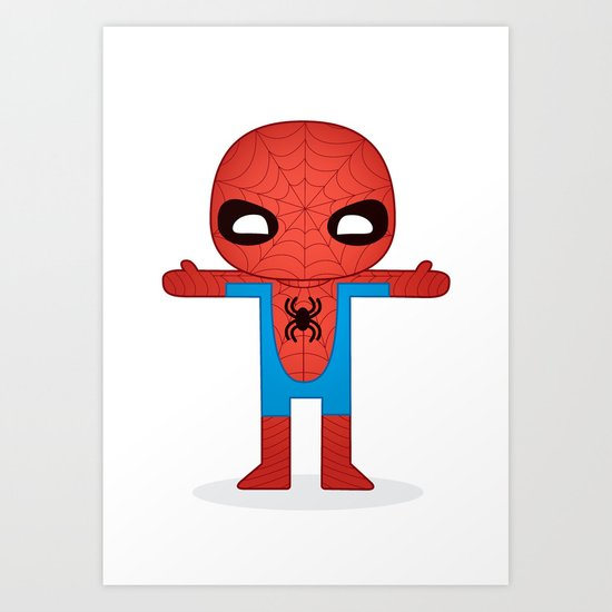 SPIDER MAN ROBOTIC Art Print
