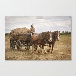 Carting Hay Canvas Print