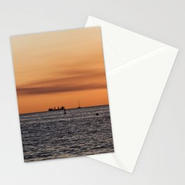 Orange Summersunset Feeling - Warnemuende - Baltic Sea Stationery Cards