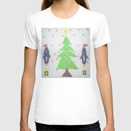 Penguins Around the Christmas Tree T-shirt