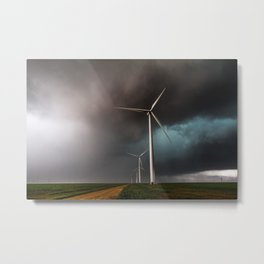 Wind Farm - Renewable Energy on the Texas Plains Metal Print