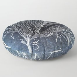 Palm Leaf Earth Day and Easter Floor Pillow