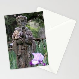 St. Francis in the Garden  Stationery Cards