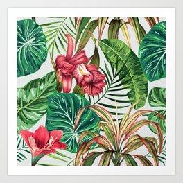 Tropica #pattern #illustration #tropical Art Print