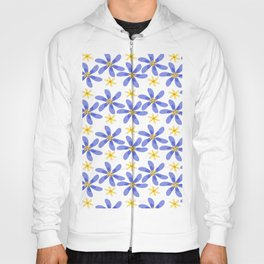 Purple Yellow Flowers Hoody