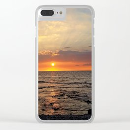 Orange Glow of the Sunset Clear iPhone Case