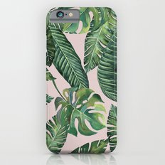 Jungle Leaves, Banana, Monstera Pink #society6 iPhone 6s Slim Case