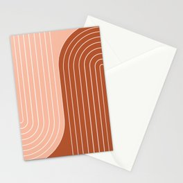 Two Tone Line Curvature XXIX Stationery Cards