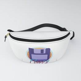 Vintage Retro Floppy Disk 80s Computer Gift Fanny Pack