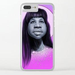 Aretha Franklin Clear iPhone Case