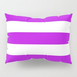 Vivid mulberry - solid color - white stripes pattern Pillow Sham