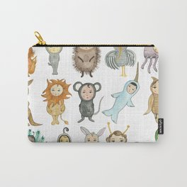 Watercolor Animal Alphabet (No Words) Carry-All Pouch