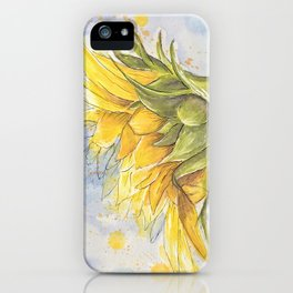 Helianthus annuus: Sunflower Abstraction iPhone Case
