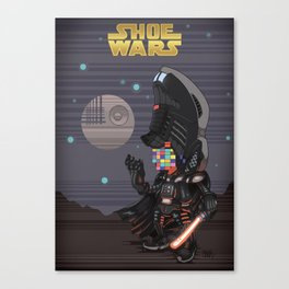 ShoeWars : Darth Vader Canvas Print