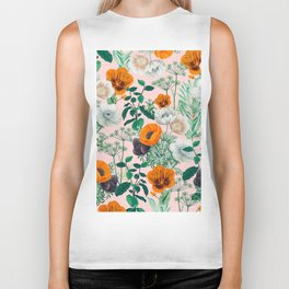 Wildflowers #pattern #illustration Biker Tank